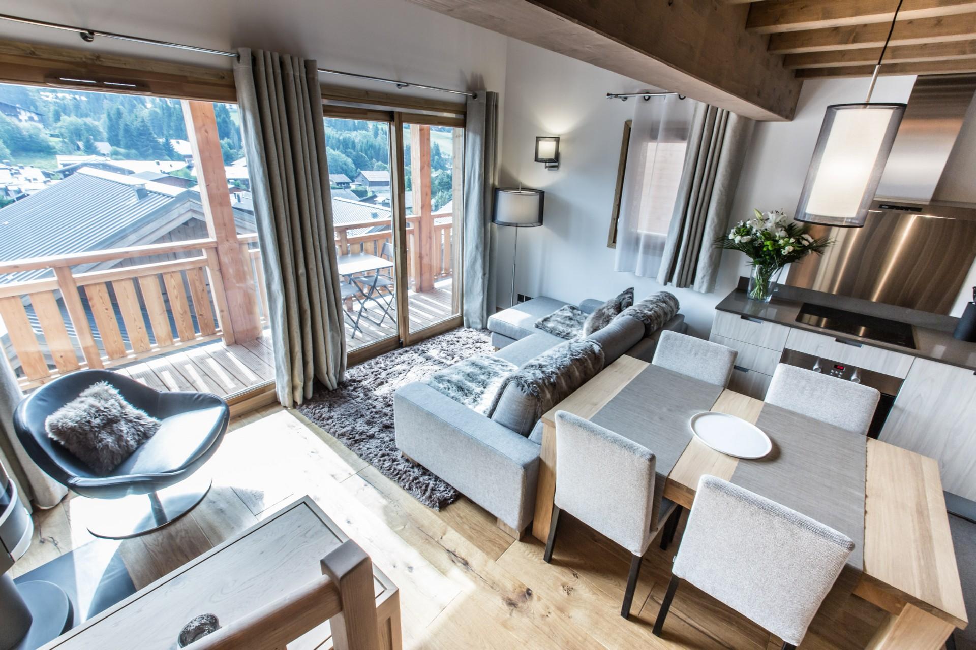 Les Gets Luxury Rental Chalet Ancalie Living Room 2