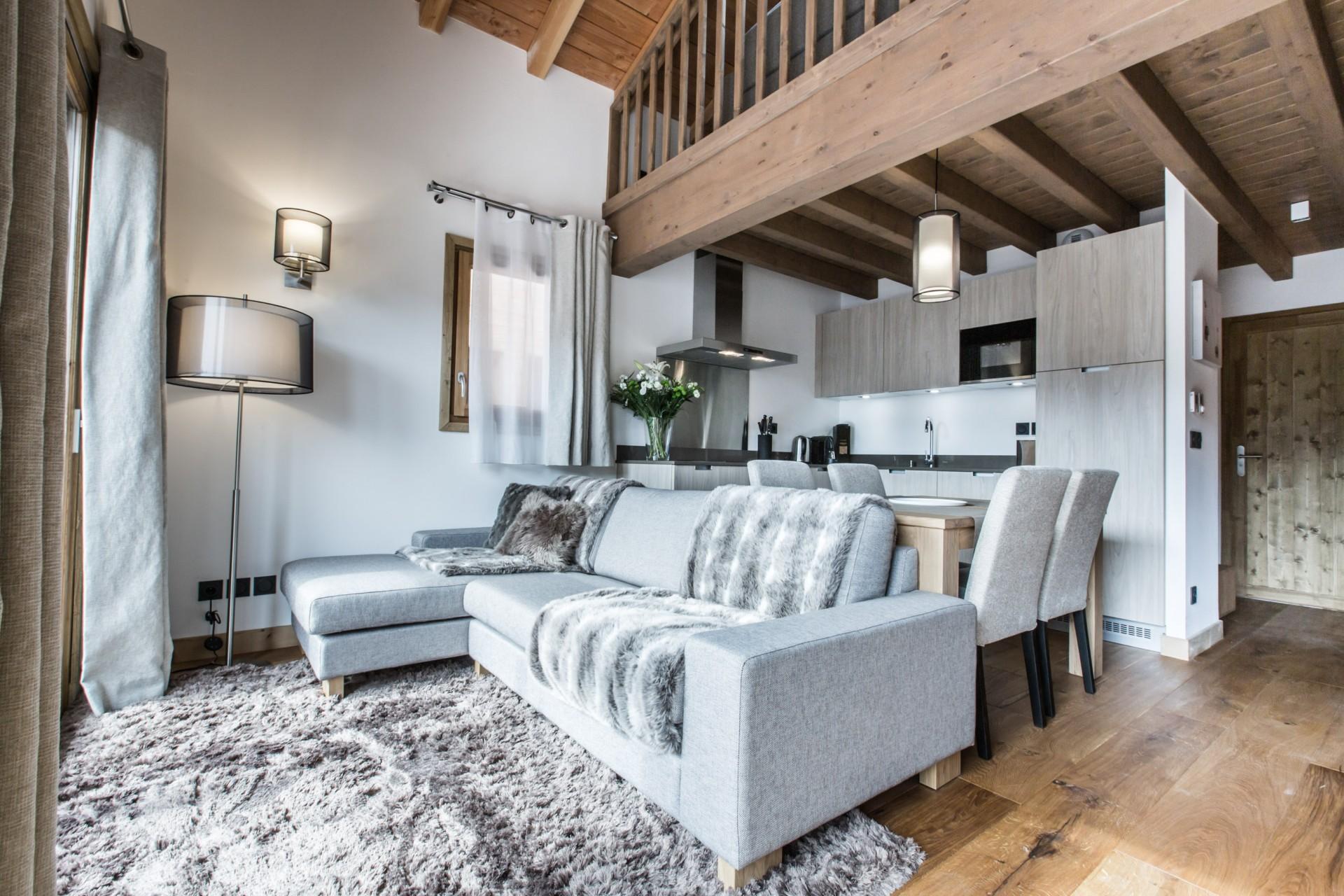 Les Gets Luxury Rental Chalet Ancalie Living Room
