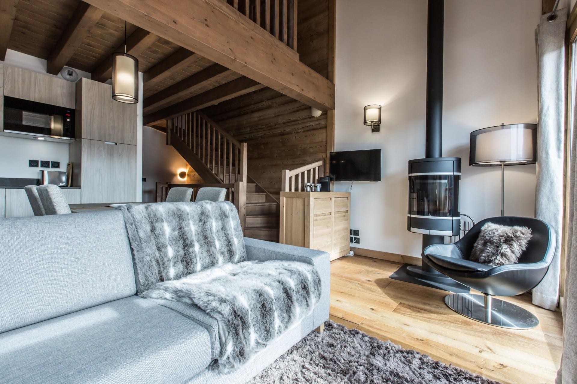 Les Gets Luxury Rental Chalet Ancalie Living Room 3