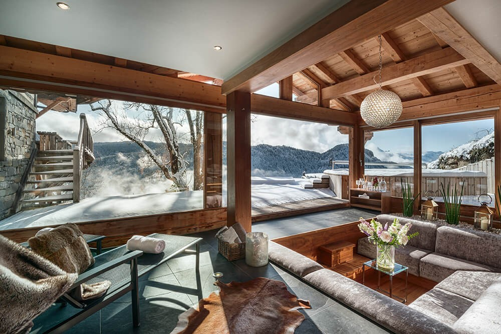 Les Gets Luxury Rental Chalet Gedrite Sofa
