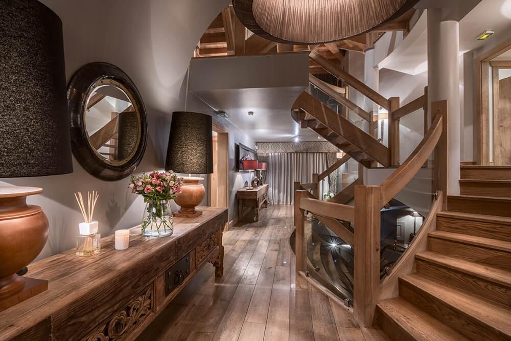 Les Gets Luxury Rental Chalet Gedrite Stairs