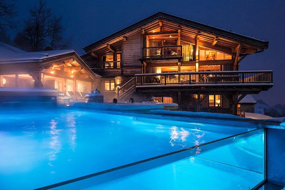 Les Gets Luxury Rental Chalet Gedrite Pool 2