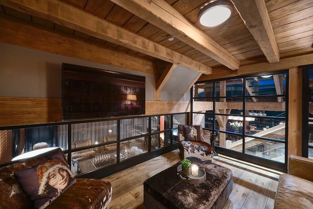 Les Gets Luxury Rental Chalet Gedrite Living Room