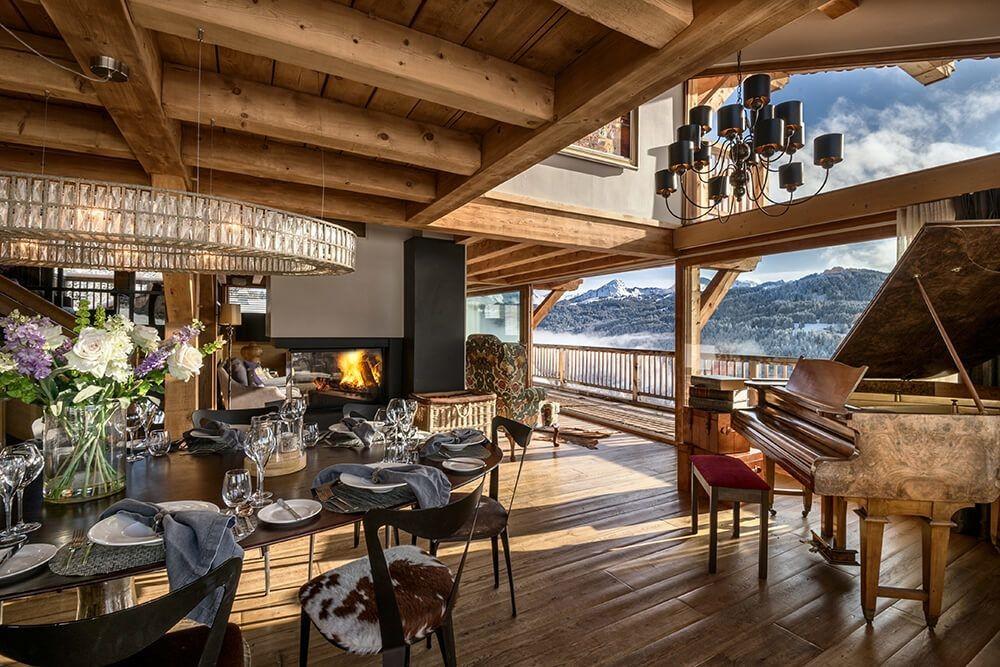 Les Gets Luxury Rental Chalet Gedrite Living Room 4