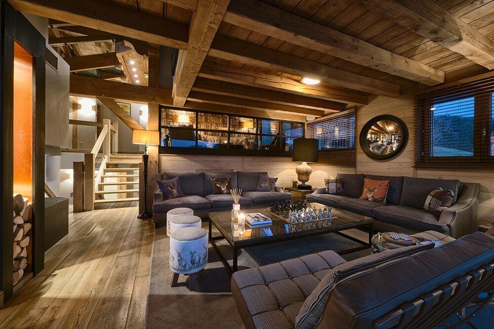 Les Gets Luxury Rental Chalet Gedrite Living Room 3