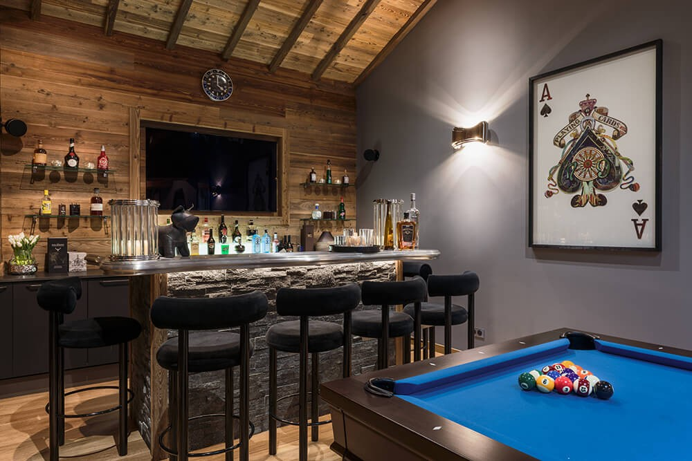 Les Gets Location Chalet Luxe Gedrute Bar