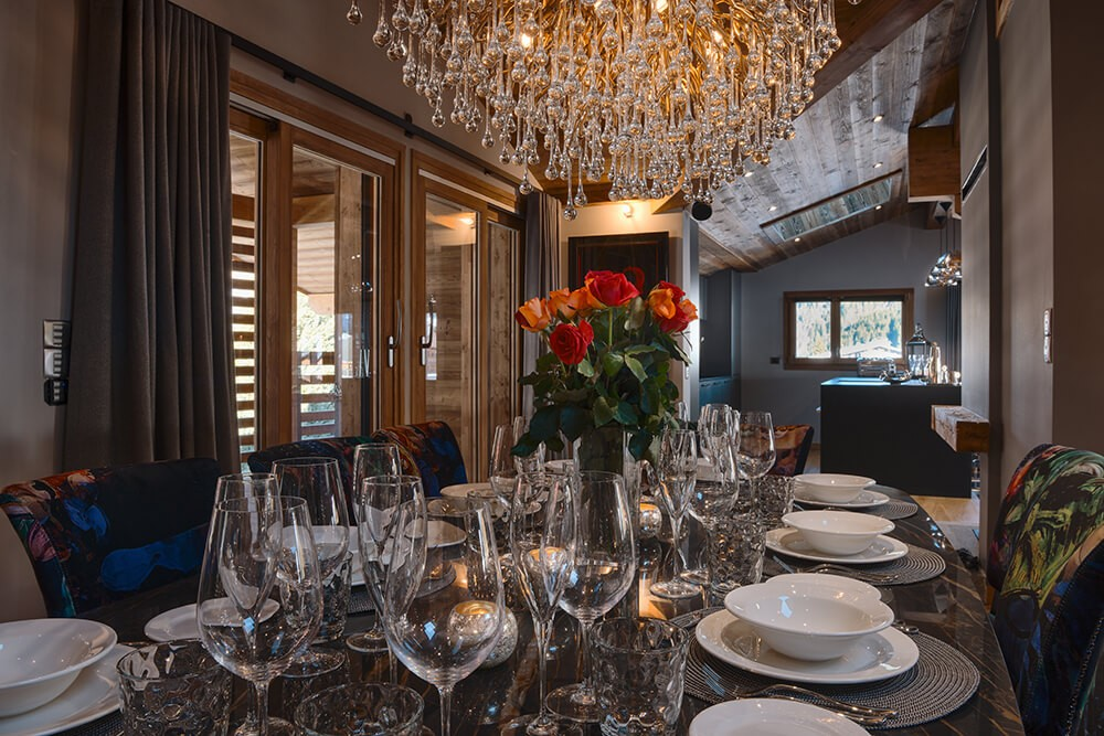 Les Gets Location Chalet Luxe Gedrute Salle A Manger