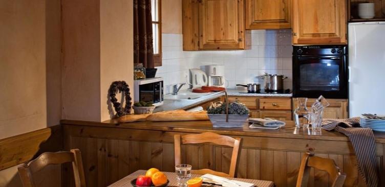 Les Menuires Location Appartement Luxe Acantie Cuisine