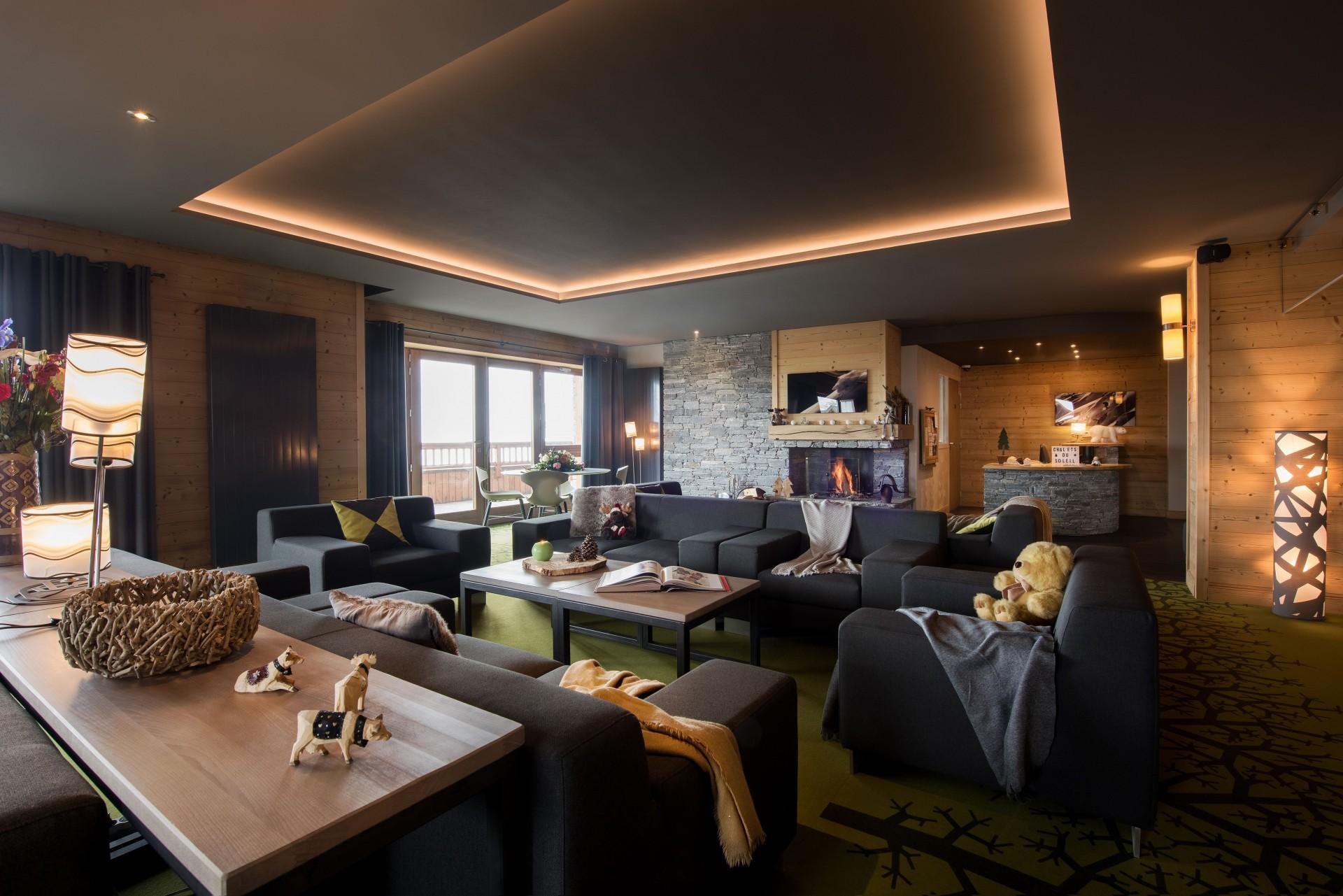 Les Menuires Location Appartement Luxe Acantie Réception 1