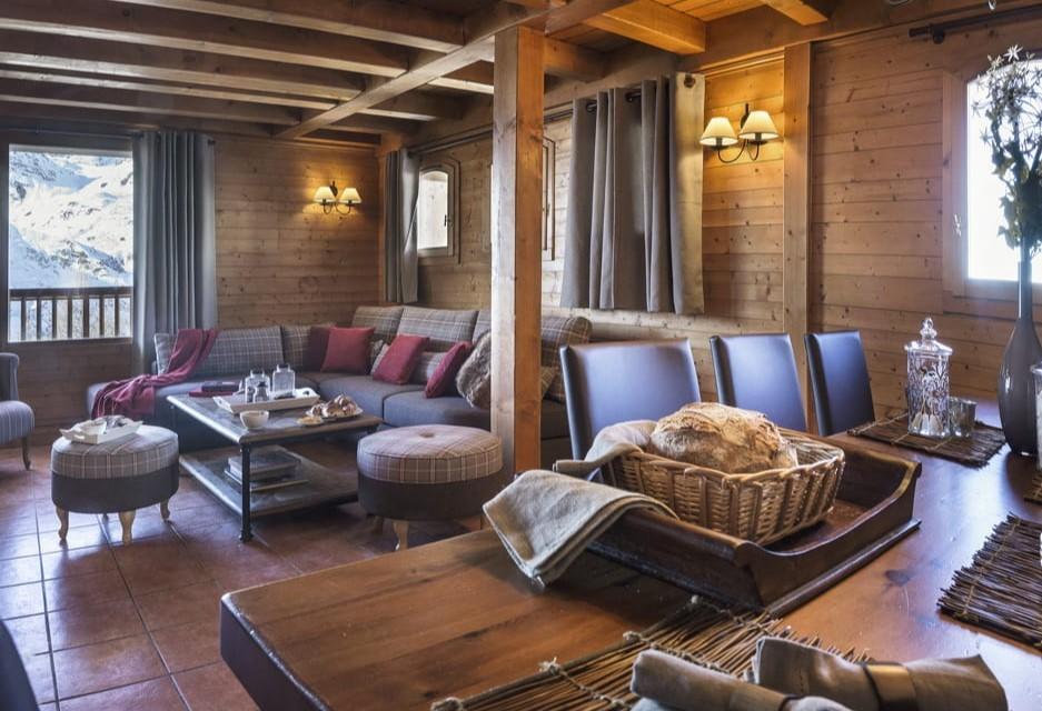 Les Menuires Location Appartement Luxe Aminu Séjour