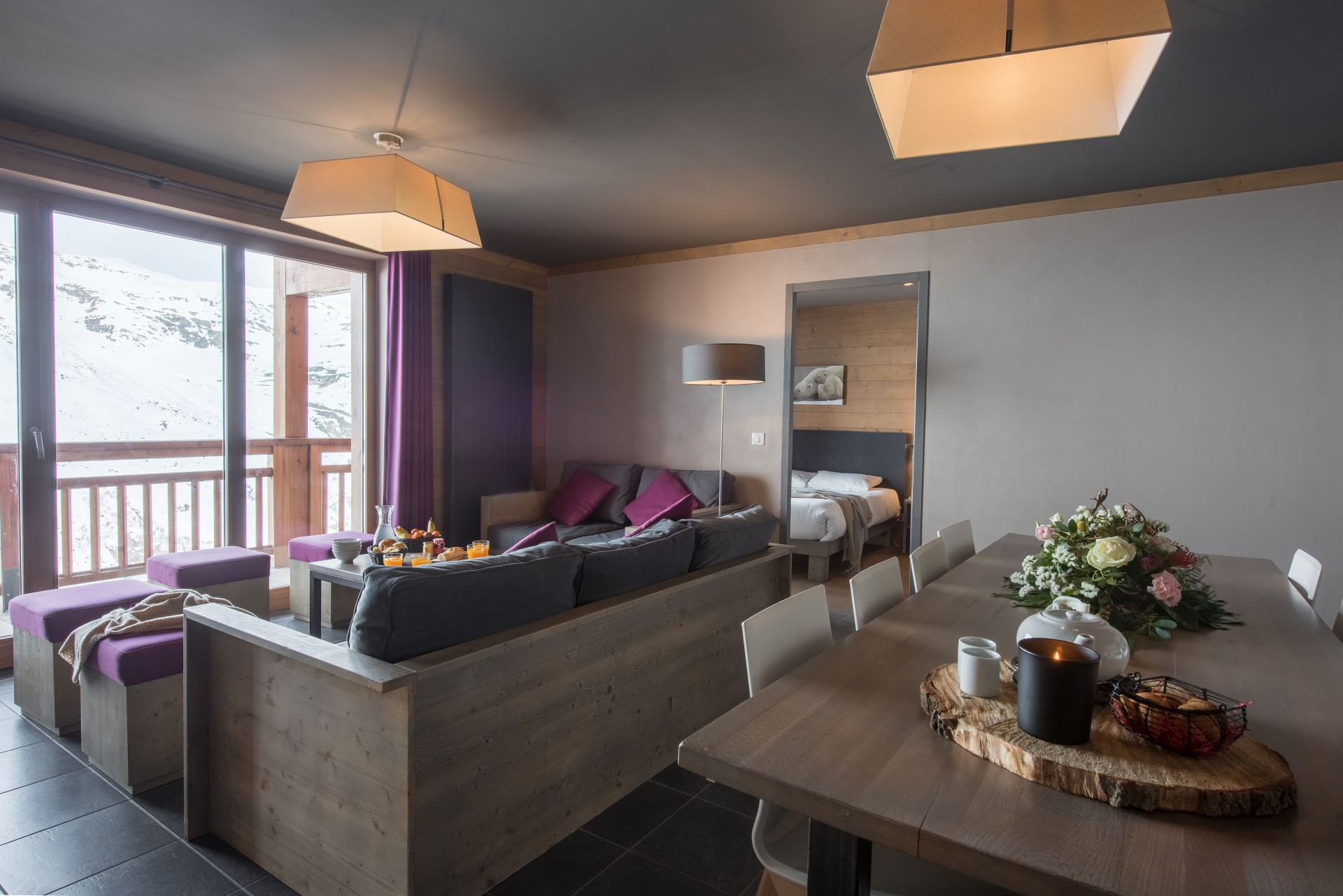 Les Menuires Location Appartement Luxe Calcino Salon
