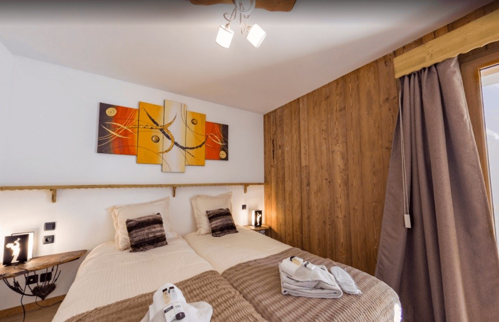 Les Menuires Location Chalet Luxe Lalinaire Chambre