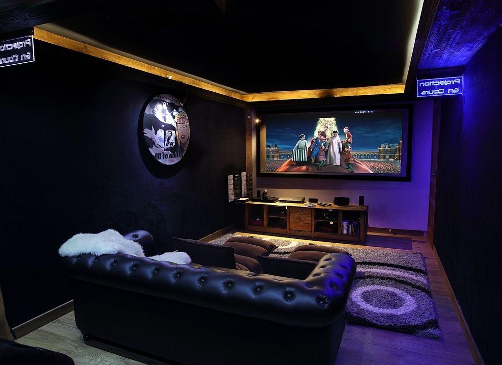 Les Menuires Luxury Rental Chalet Lanigrette Cinema Room