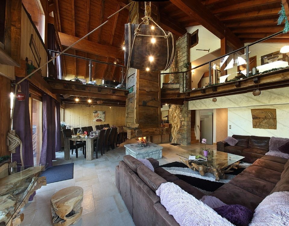 Les Menuires Luxury Rental Chalet Lanigrette Living Area 2