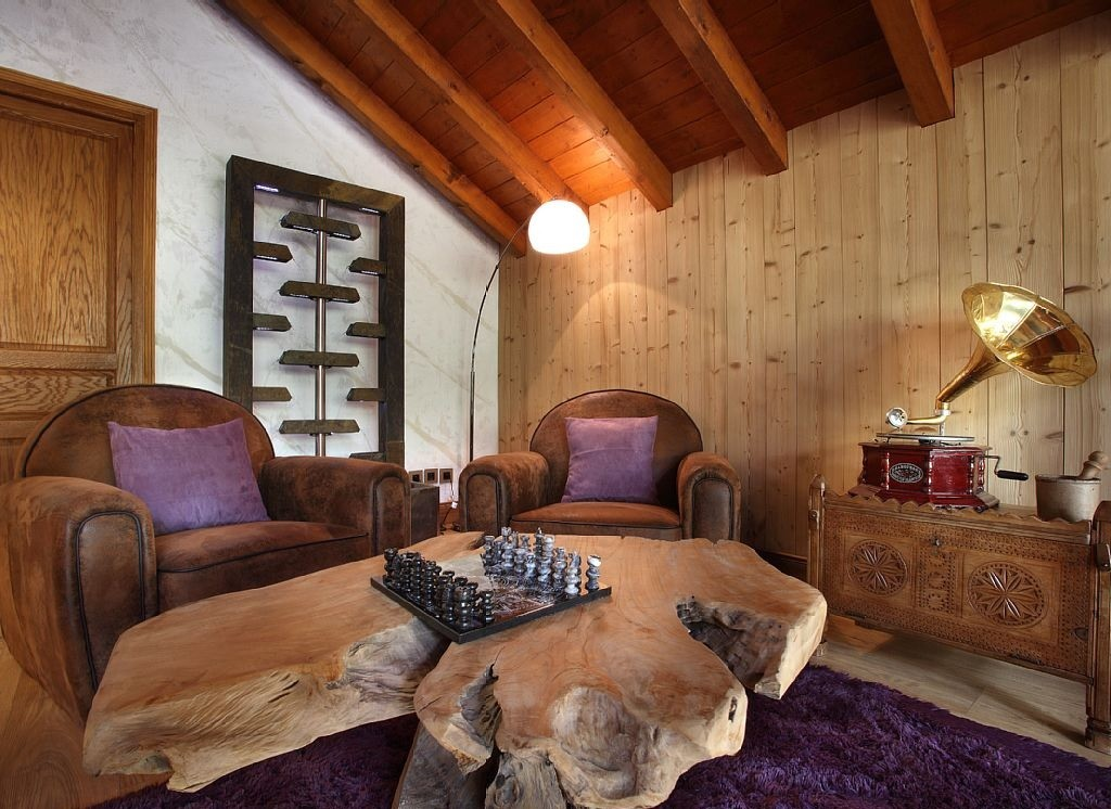 Les Menuires Luxury Rental Chalet Lanigrette Living Area