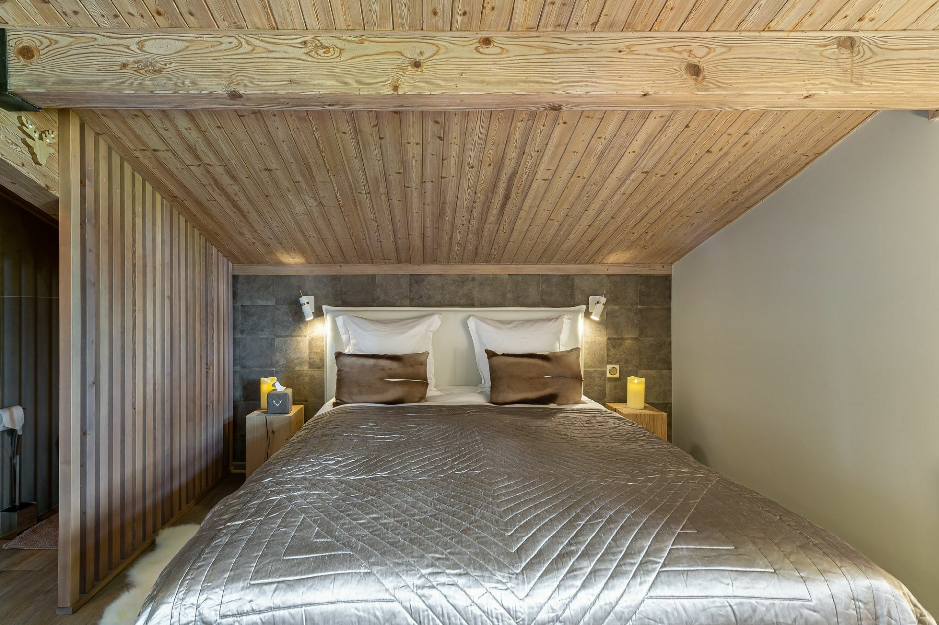 Megève Location Appartement Luxe Cabrute Chambre 2