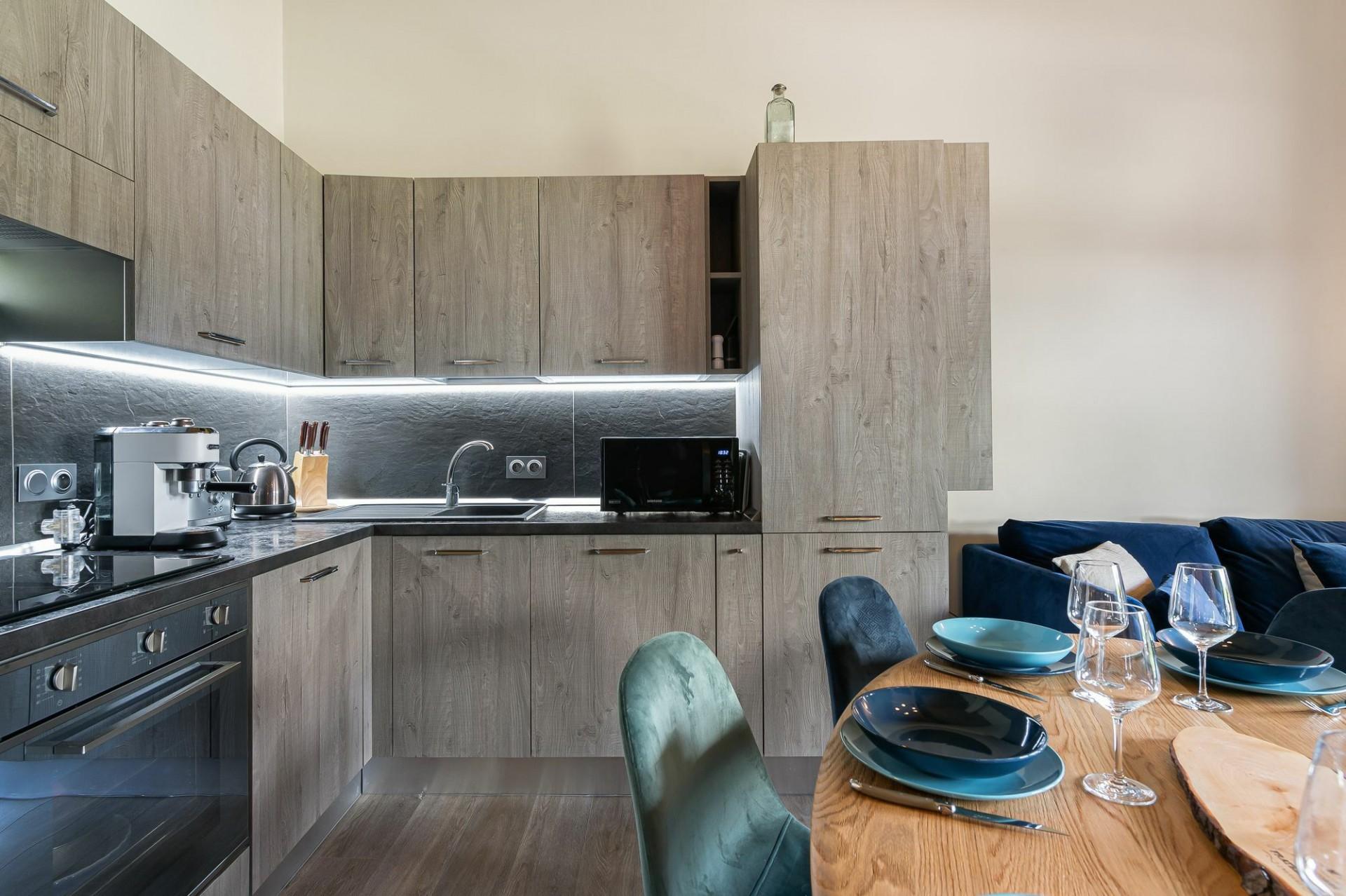 Megève Location Appartement Luxe Cabrute Cuisine