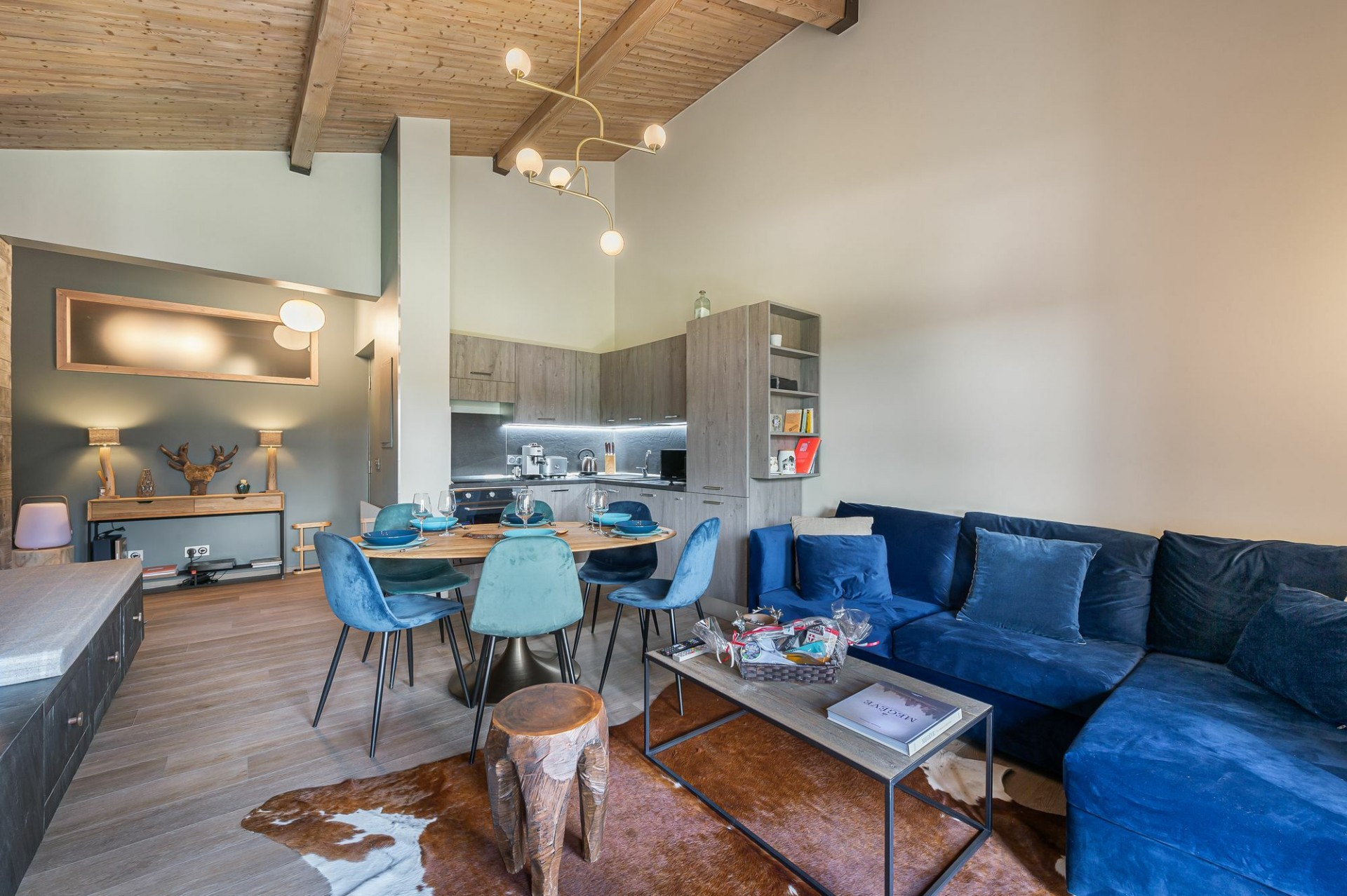 Megève Location Appartement Luxe Cabrute Séjour