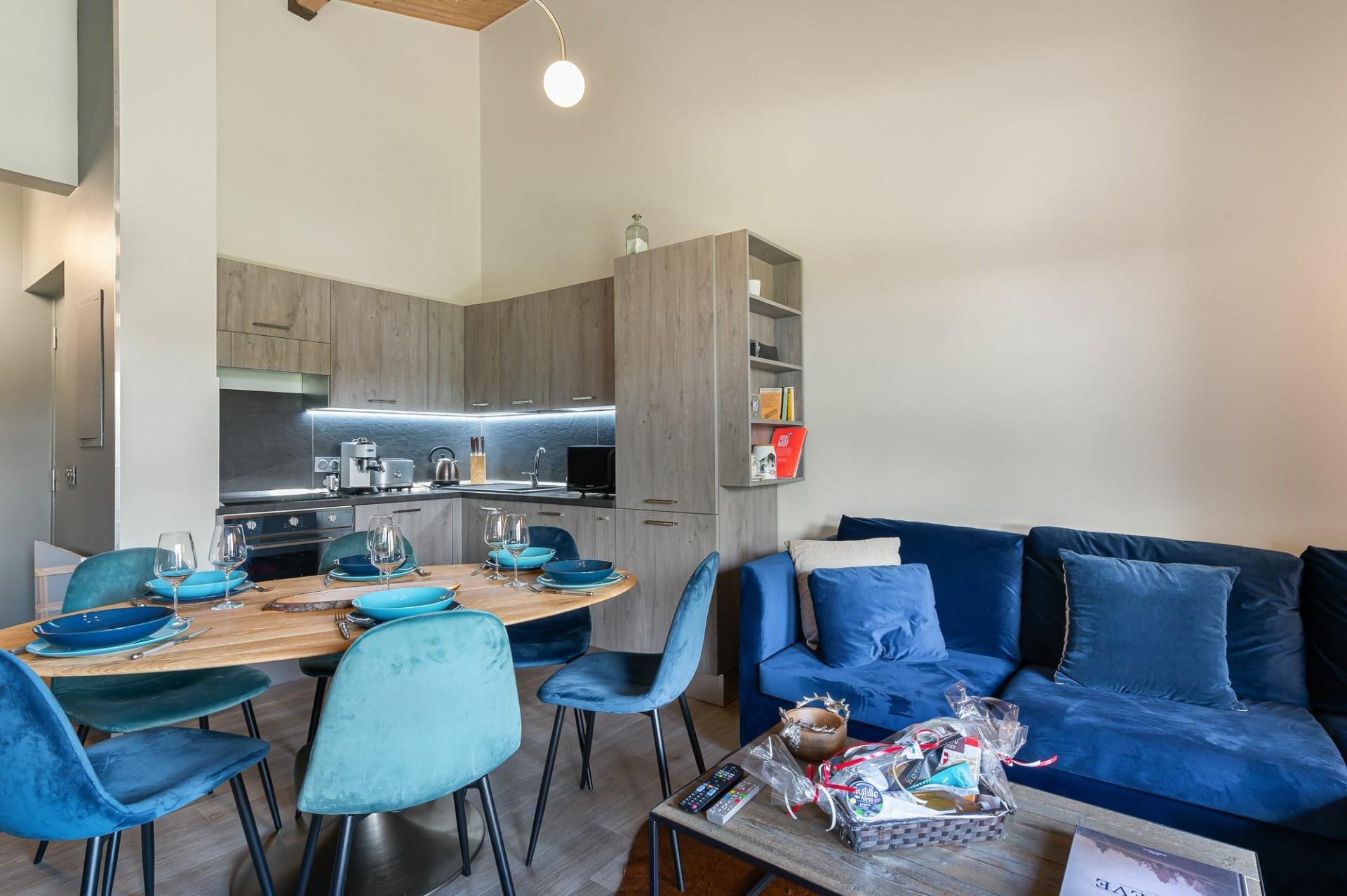 Megève Location Appartement Luxe Cabrute Séjour 3