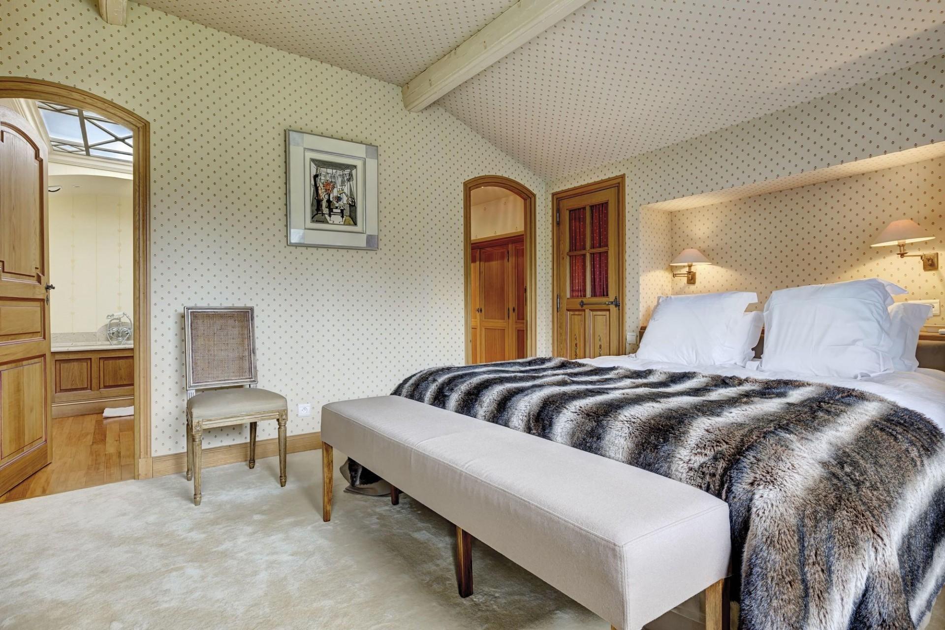 Megève Location Appartement Luxe Cafersite Chambre