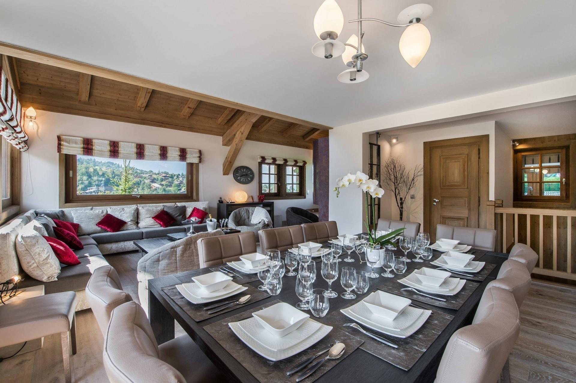 Megève Location Chalet Luxe Cajolines Salle A Manger