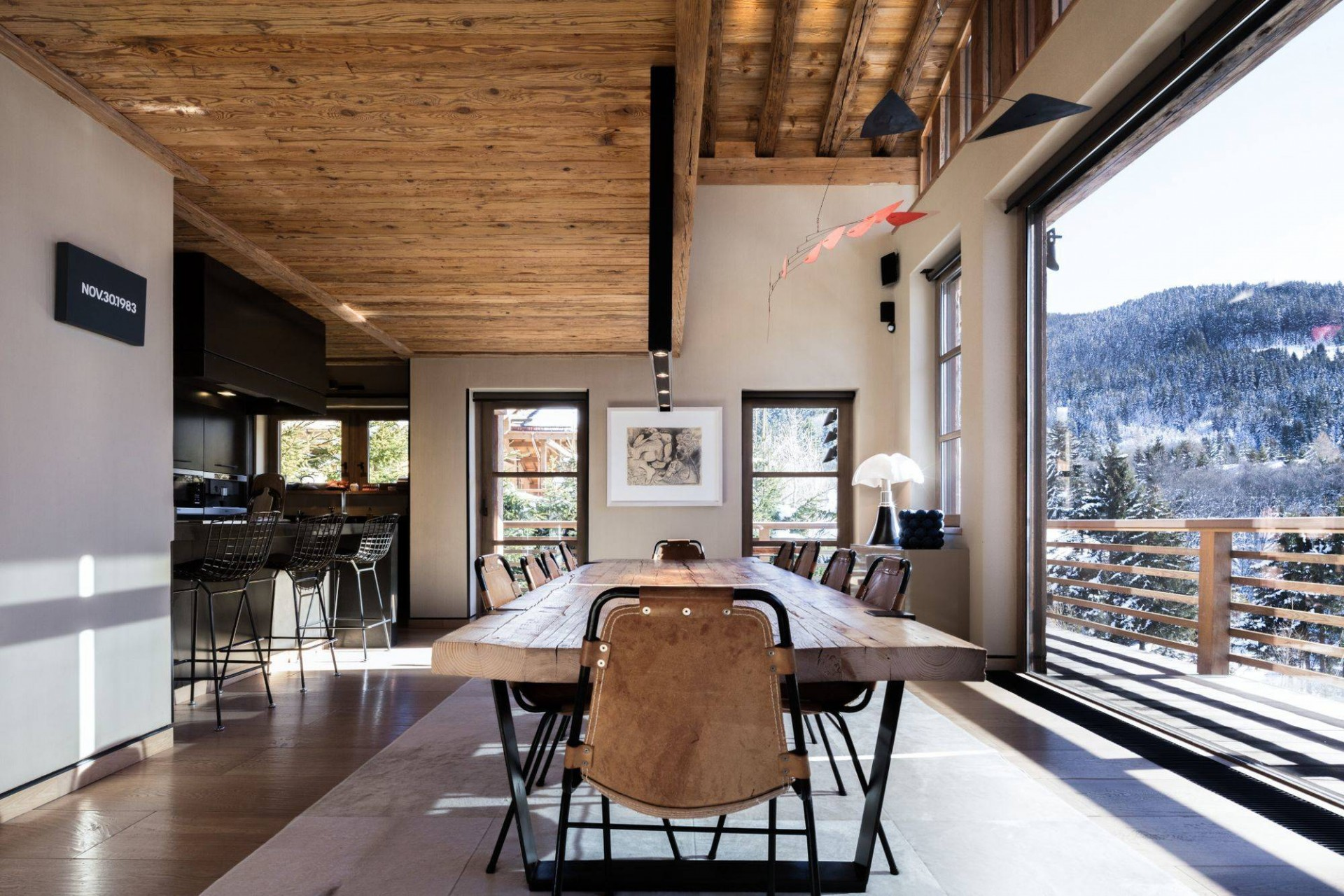 Megève Luxury Rental Chalet Cajuella Dining Area 2