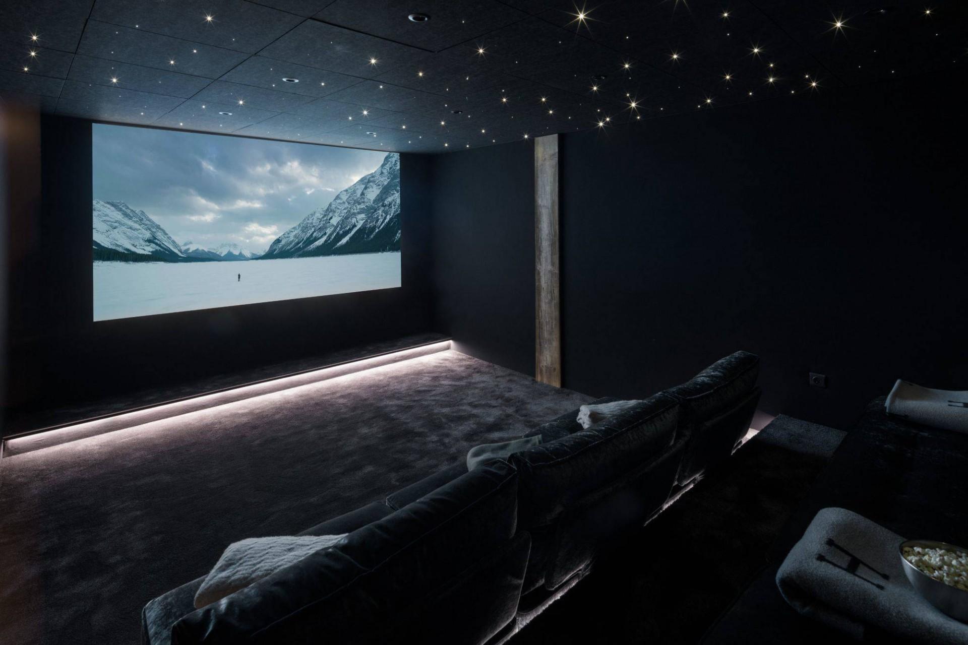 Megève Luxury Rental Chalet Cajuella Cinema Room