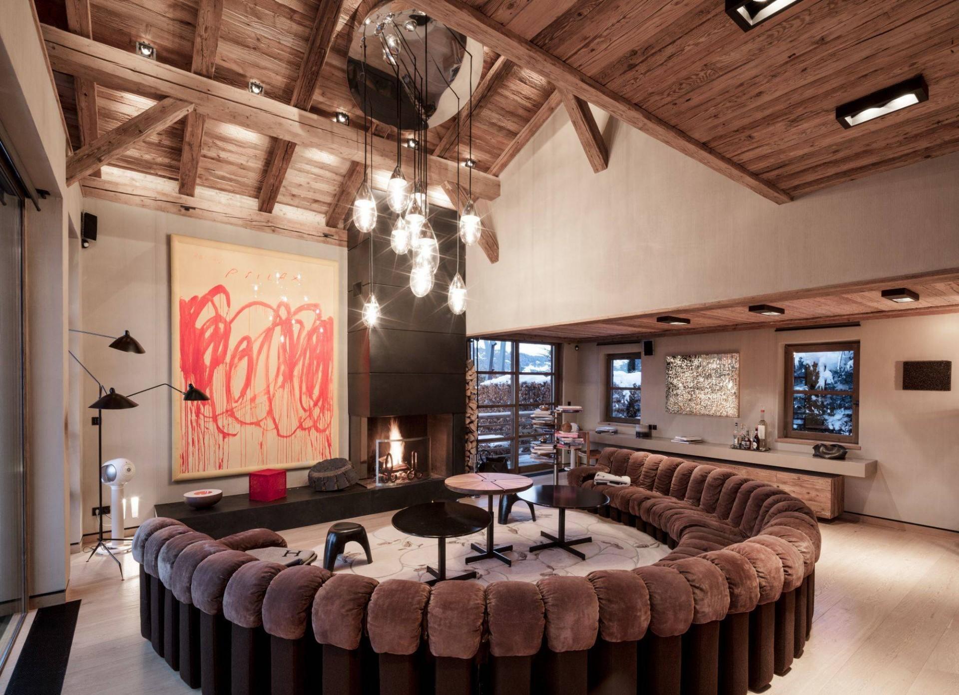Megève Luxury Rental Chalet Cajuella Living Area 2