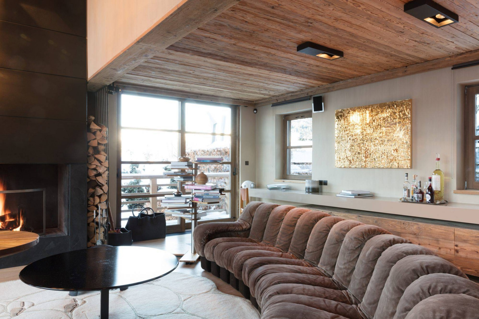 Megève Luxury Rental Chalet Cajuella Living Area 3