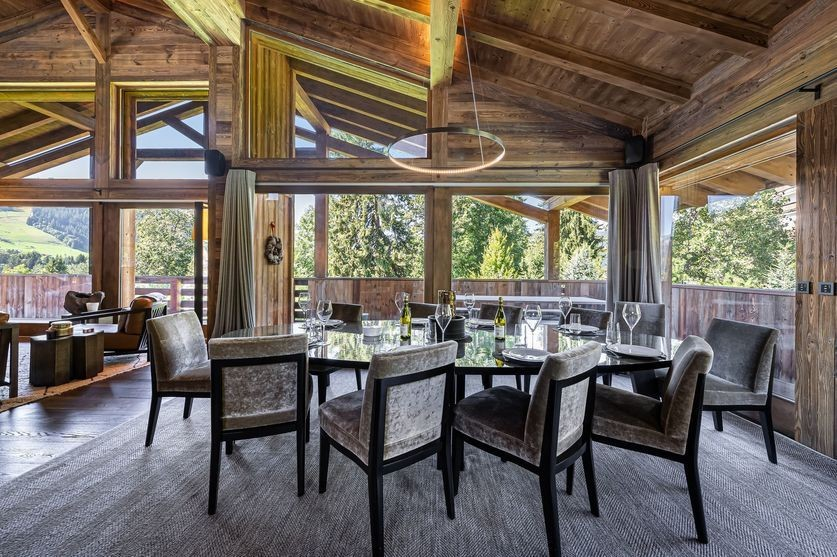 Megève Location Chalet Luxe Safiri Table A Manger
