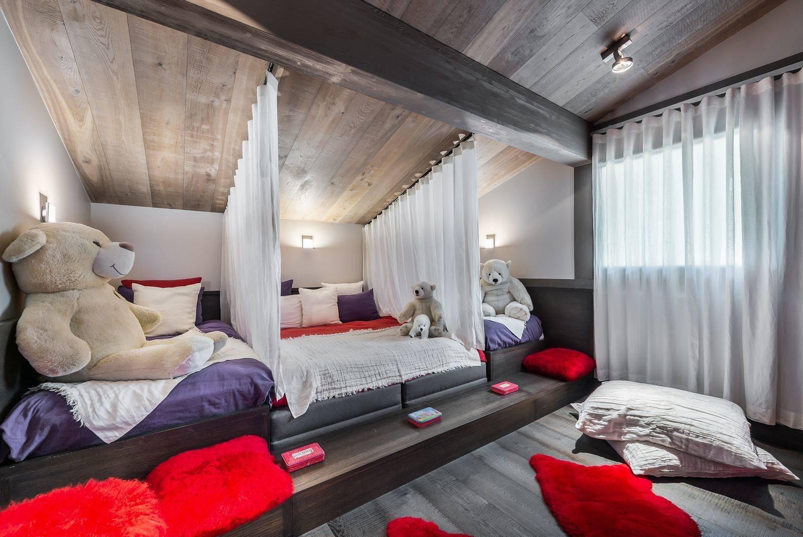 Megève Location Chalet Luxe Sesamont Chambre