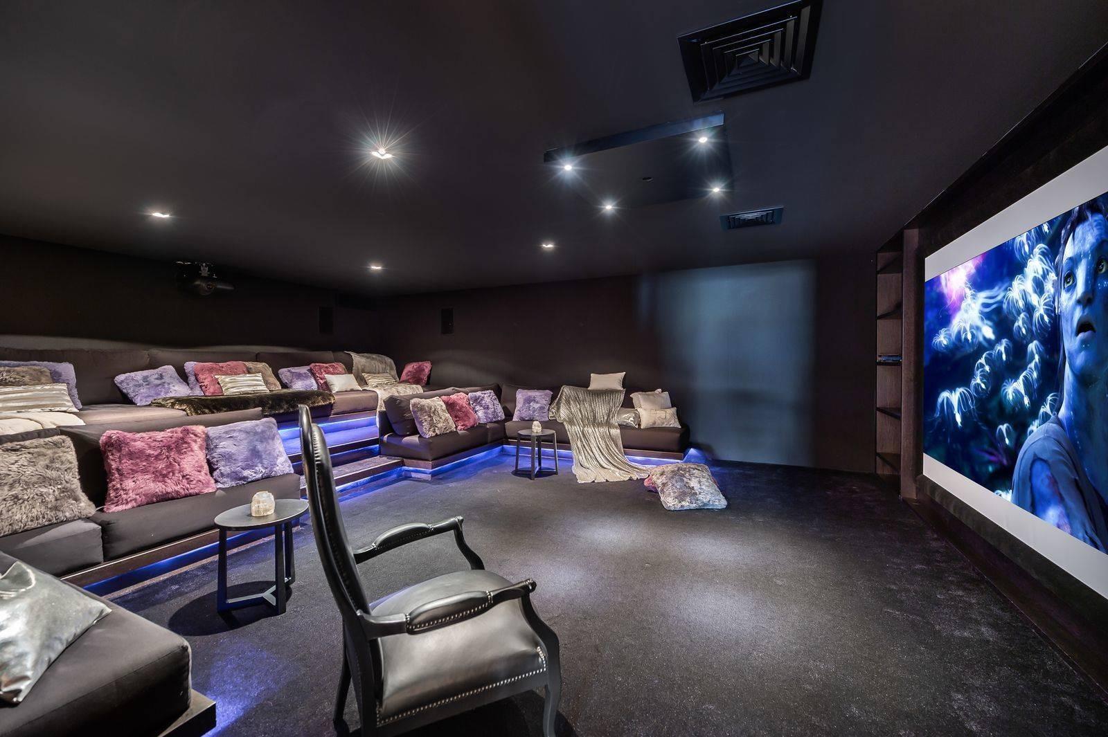 Megève Location Chalet Luxe Sesamont Salle Cinéma