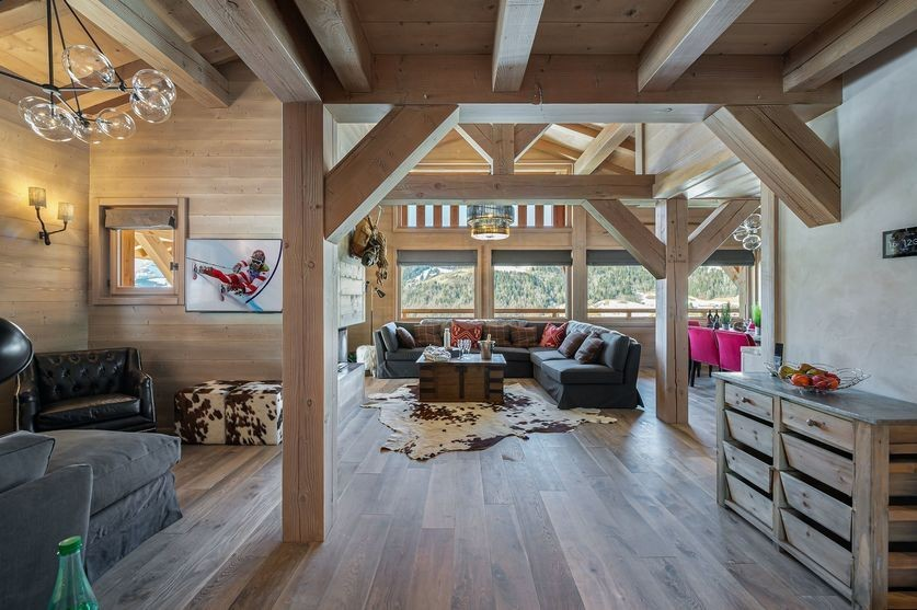 Megève Luxury Rental Chalet Sesane Living Room