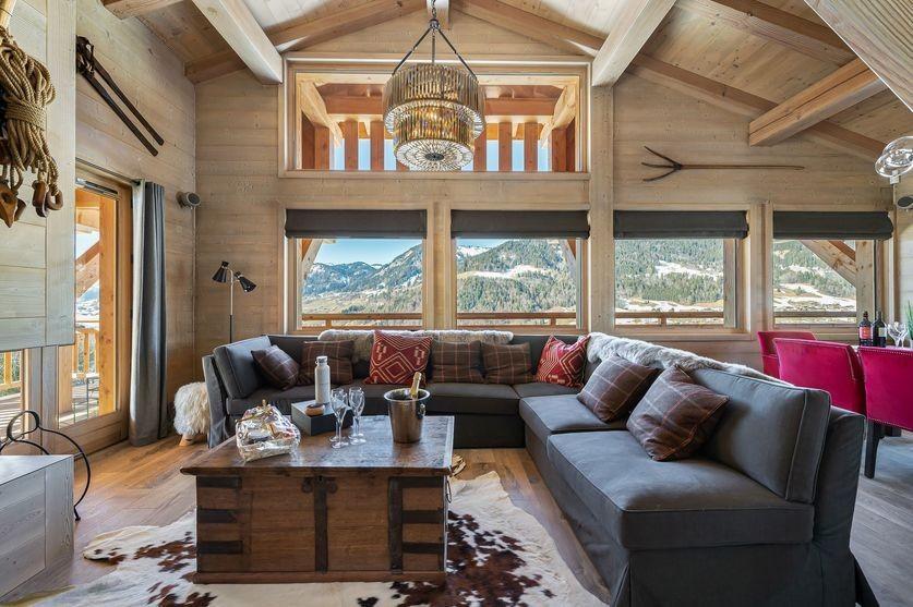 Megève Luxury Rental Chalet Sesane Living Room 3