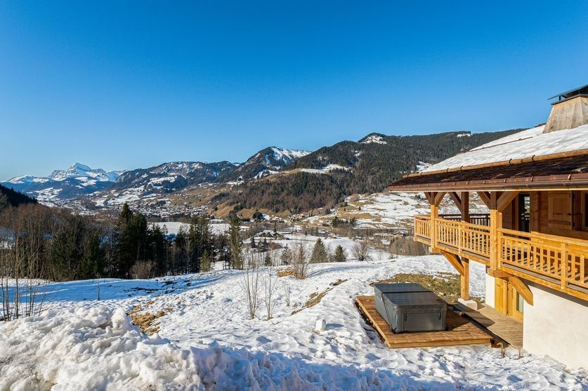 Megève Luxury Rental Chalet Sesane View