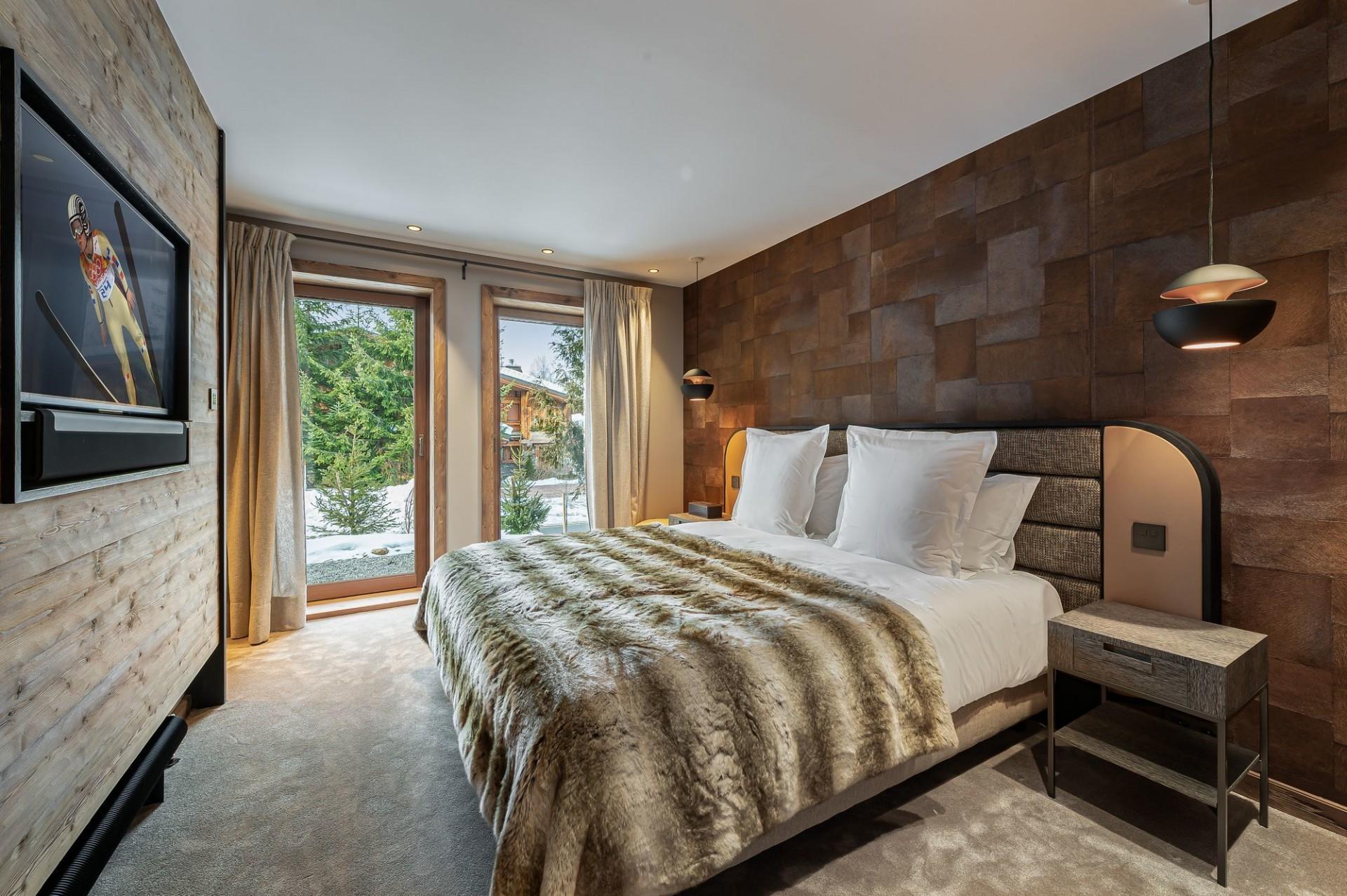 Megève Luxury Rental Chalet Sesanity Bedroom