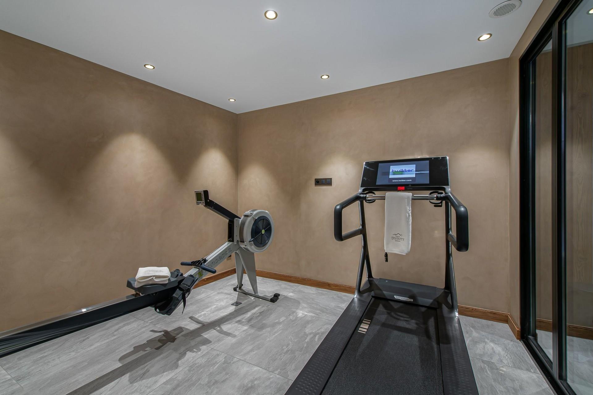 Megève Luxury Rental Chalet Sesanity Fitness Room