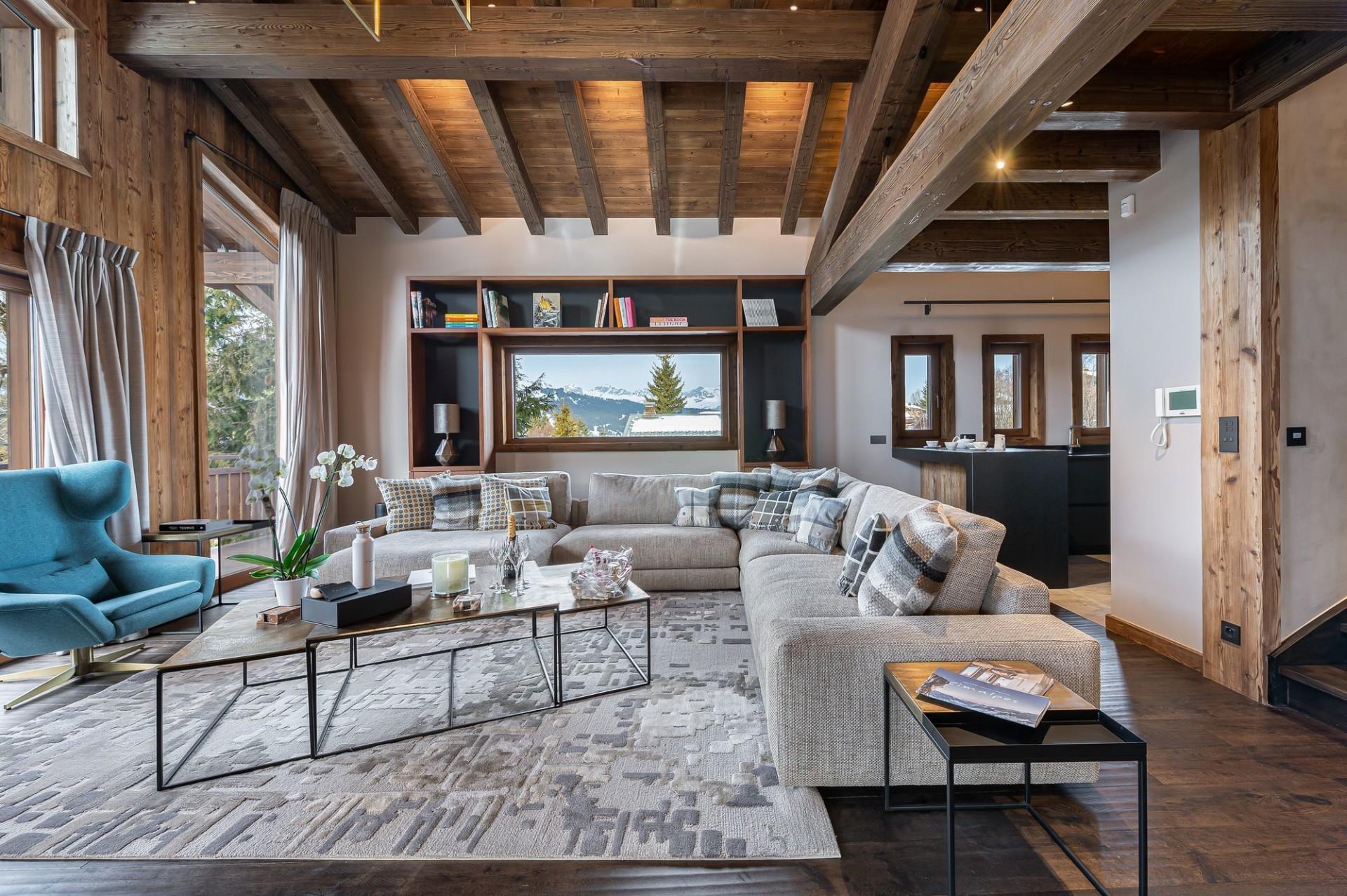 Megève Luxury Rental Chalet Sesanity Living Area 3