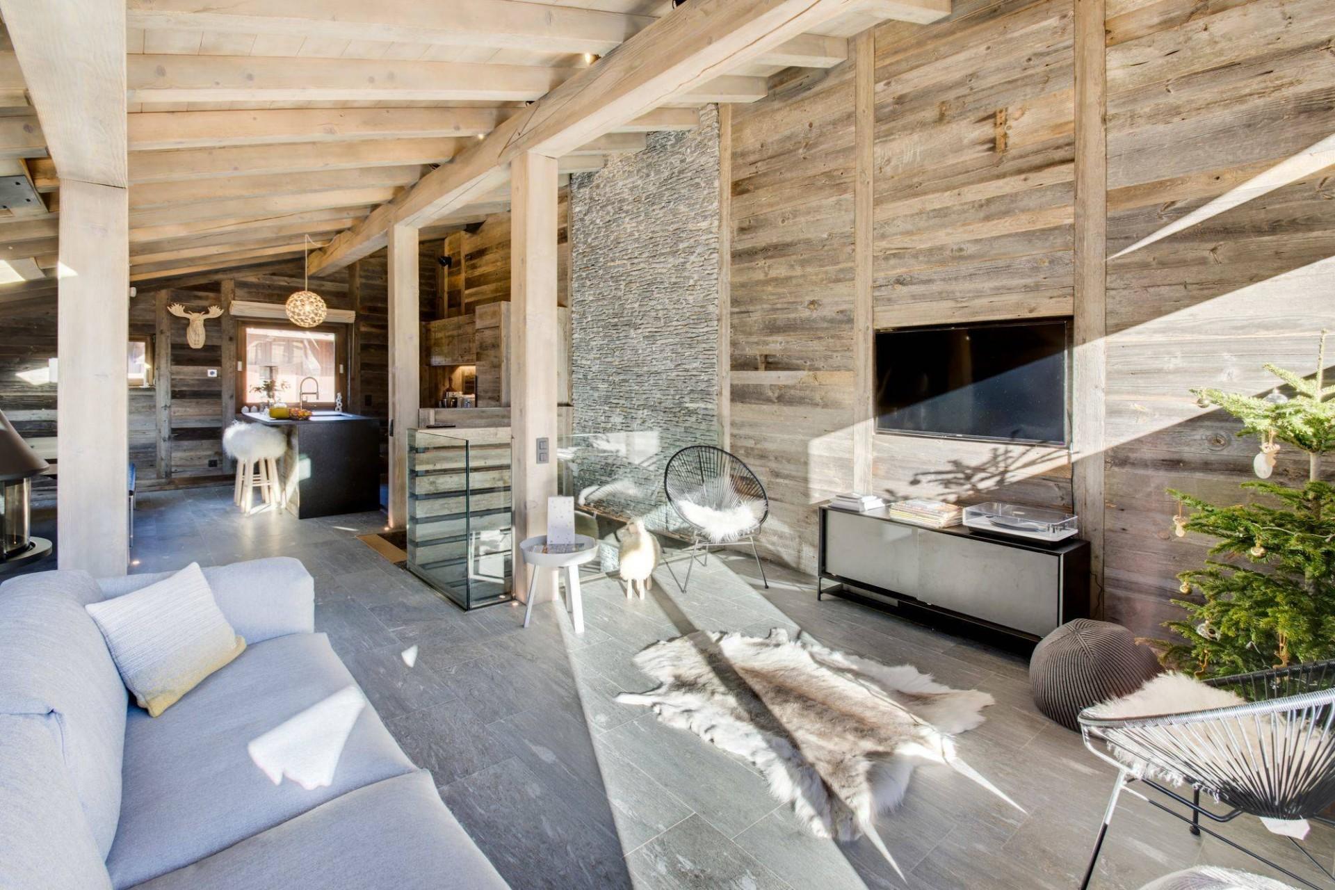 Megève Luxury Rental Chalet Taxo Living Area 2