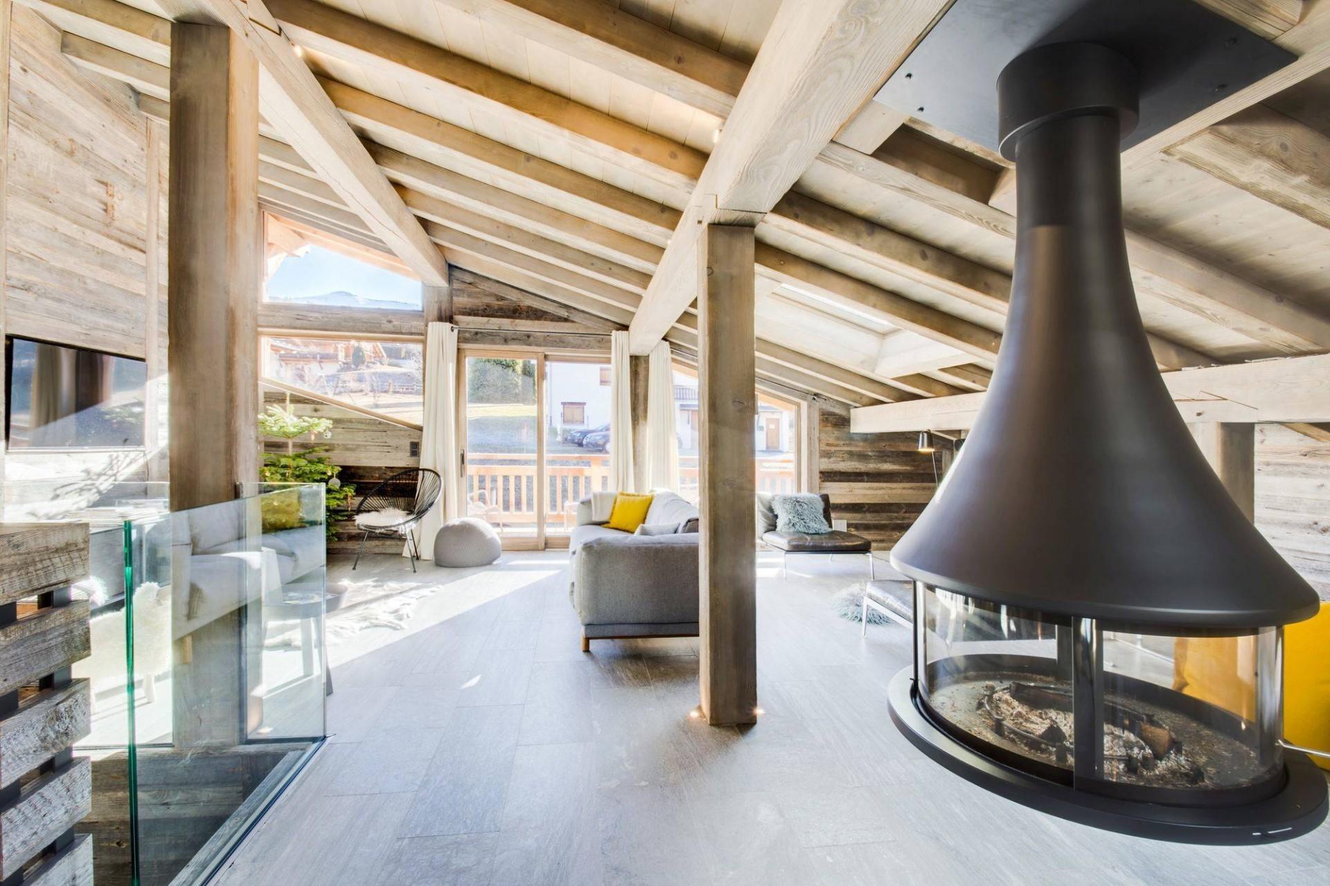 Megève Luxury Rental Chalet Taxo Living Area 4