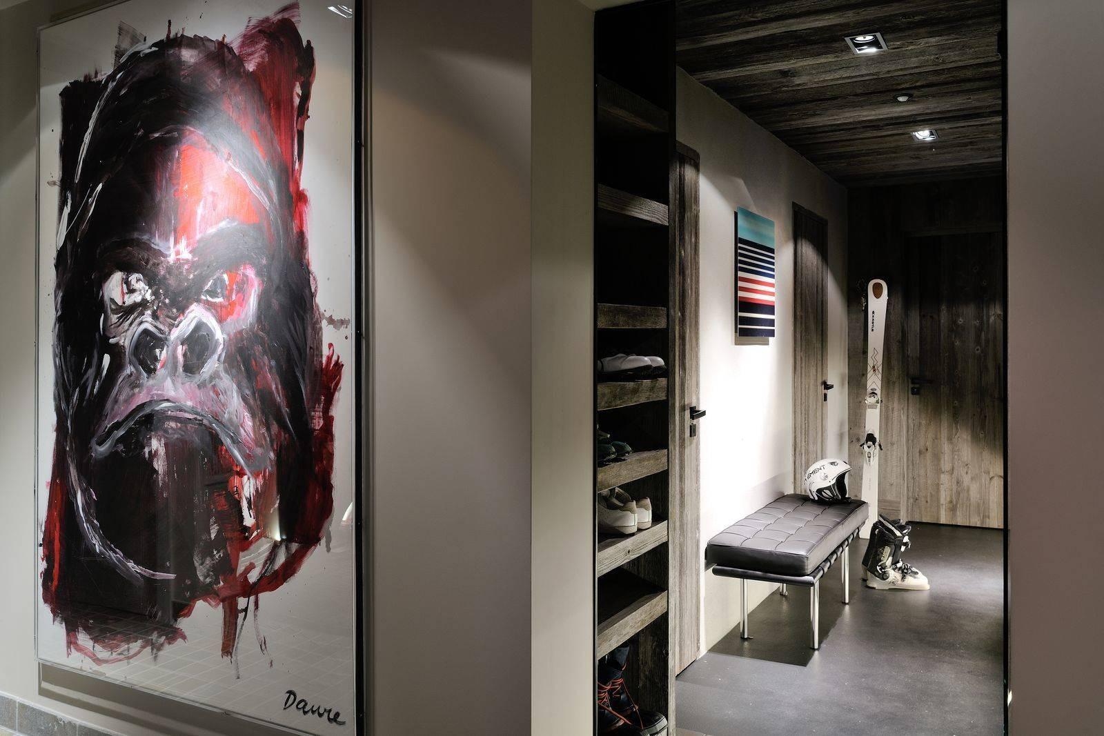 Megève Luxury Rental Chalet Taxone Ski Room