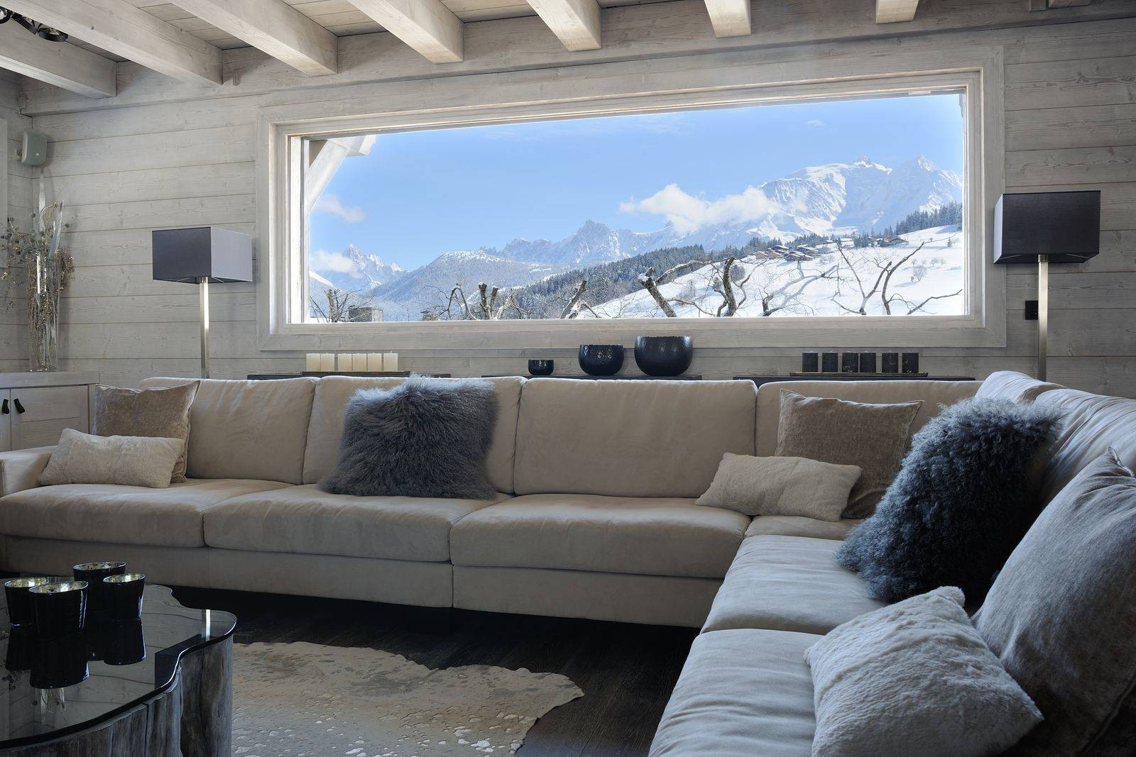 Megève Luxury Rental Chalet Taxone Living Area