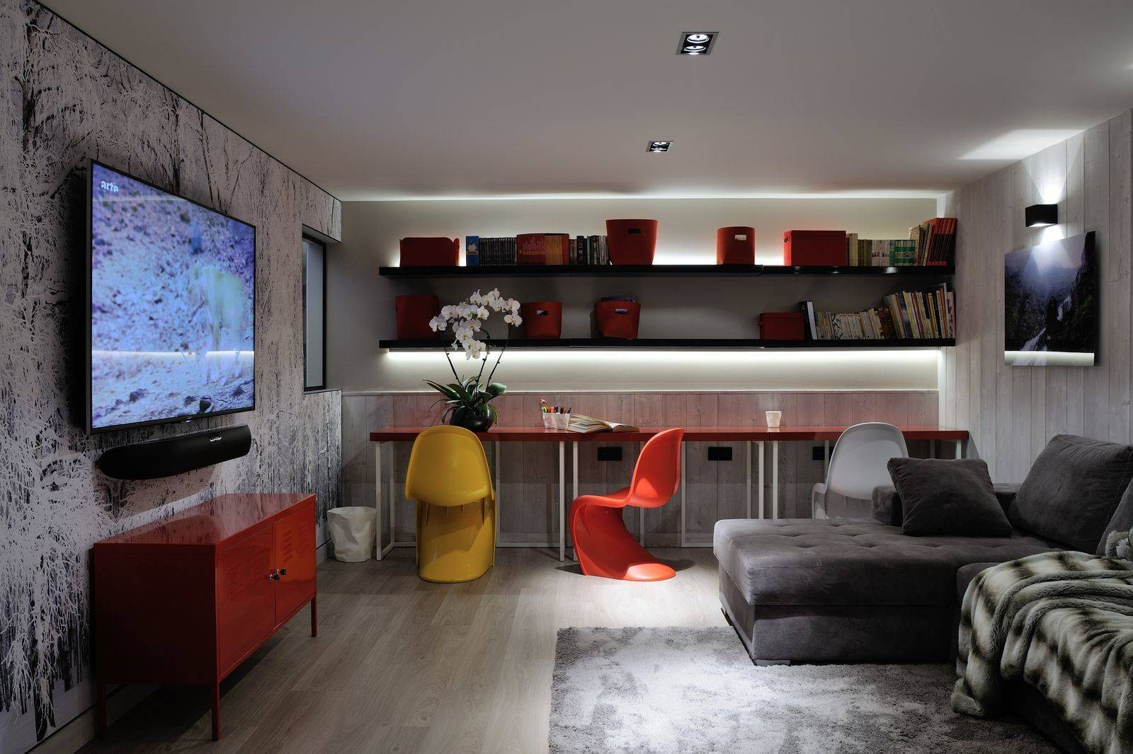 Megève Luxury Rental Chalet Taxone Living Area 2