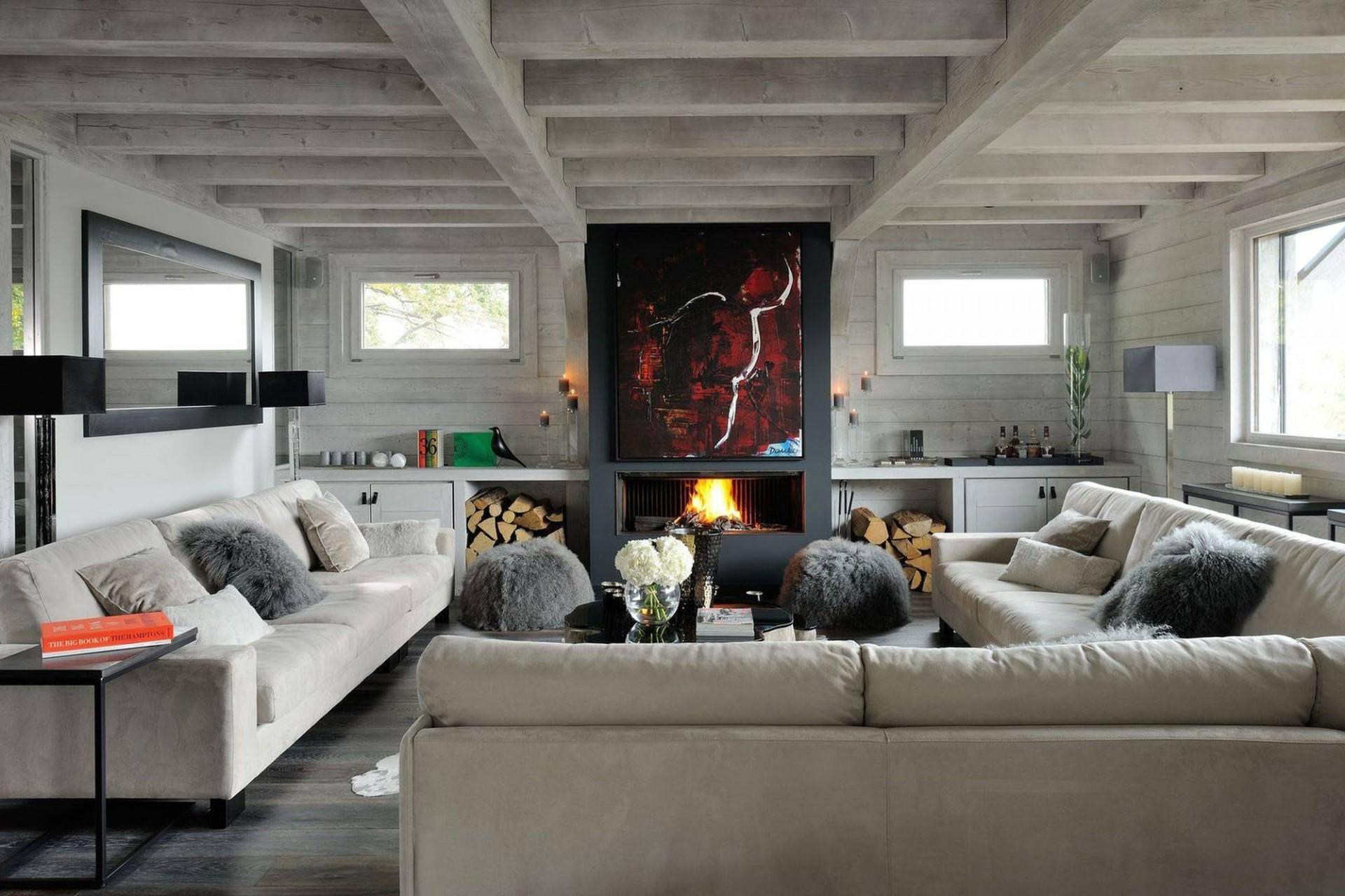 Megève Luxury Rental Chalet Taxone Living Area 6