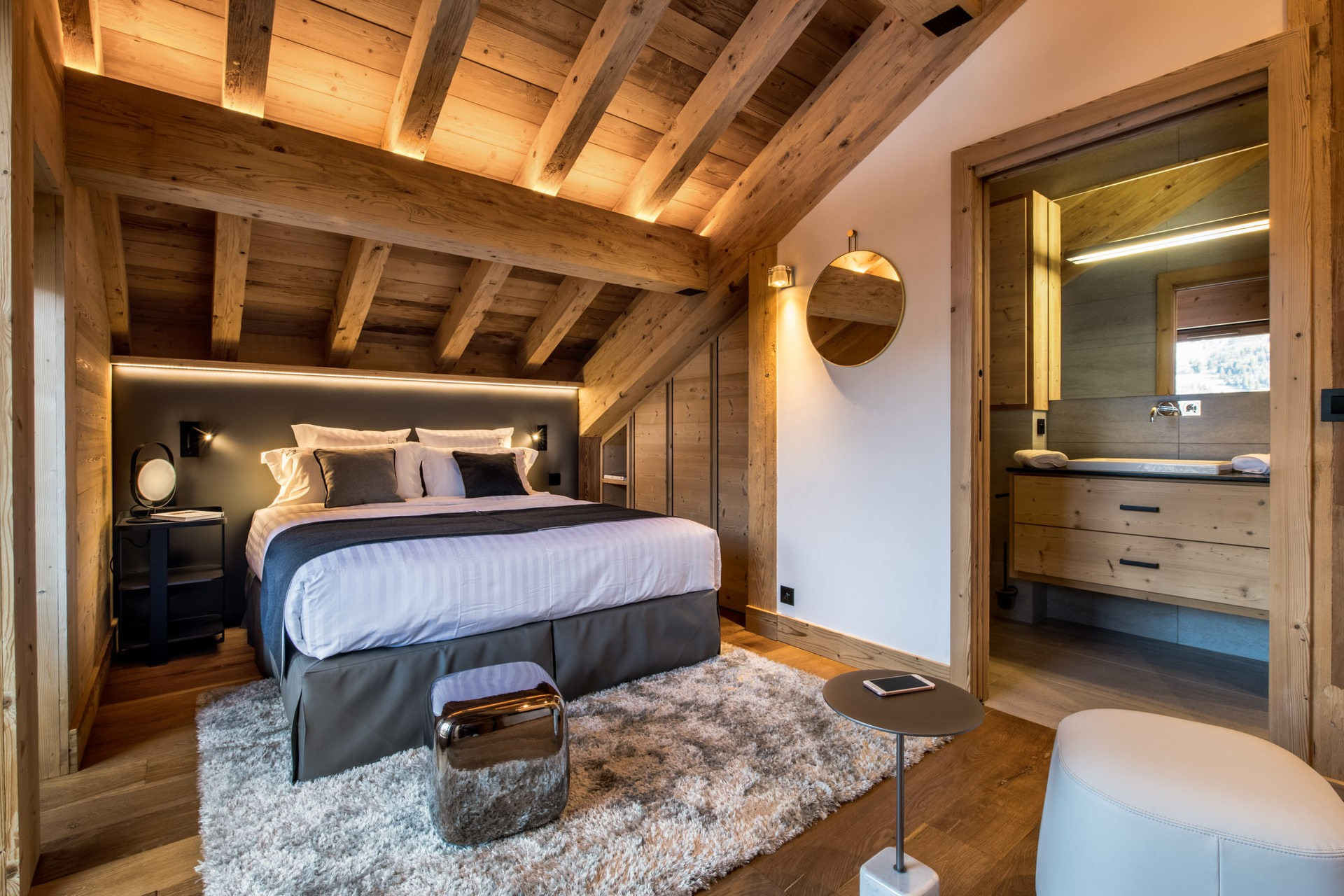 Méribel Location Chalet Luxe Nuolora Chambre