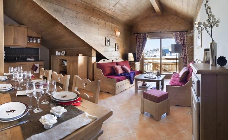 Montgenèvre Location Appartement Luxe Montana Ruby Duplex Salon