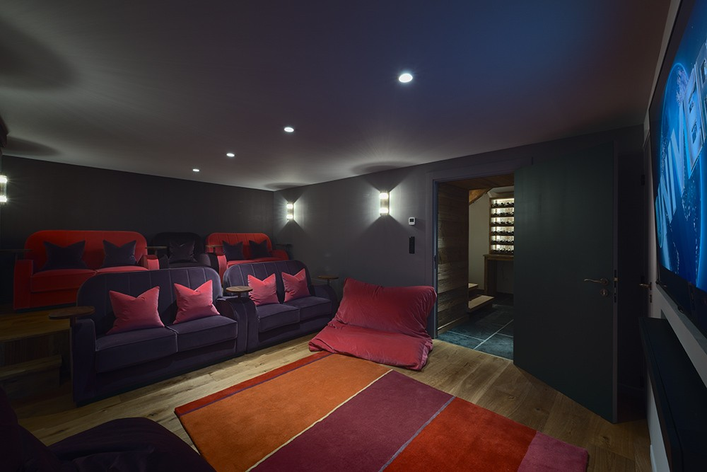 Morzine Location Chalet Luxe Morzinite Salle Cinéma