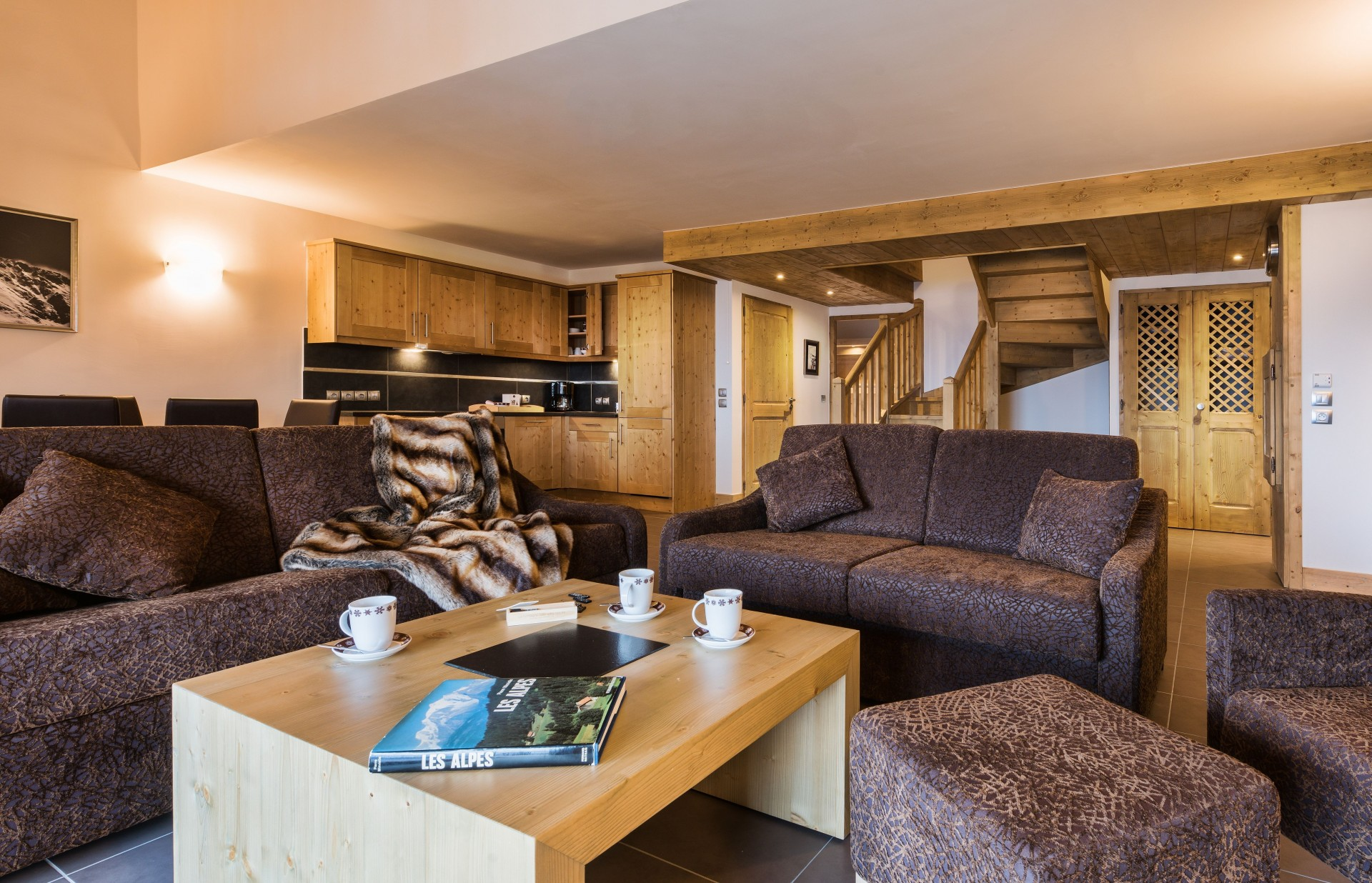 Peisey Vallandry  Location Appartement Luxe Pagodite Salon 1