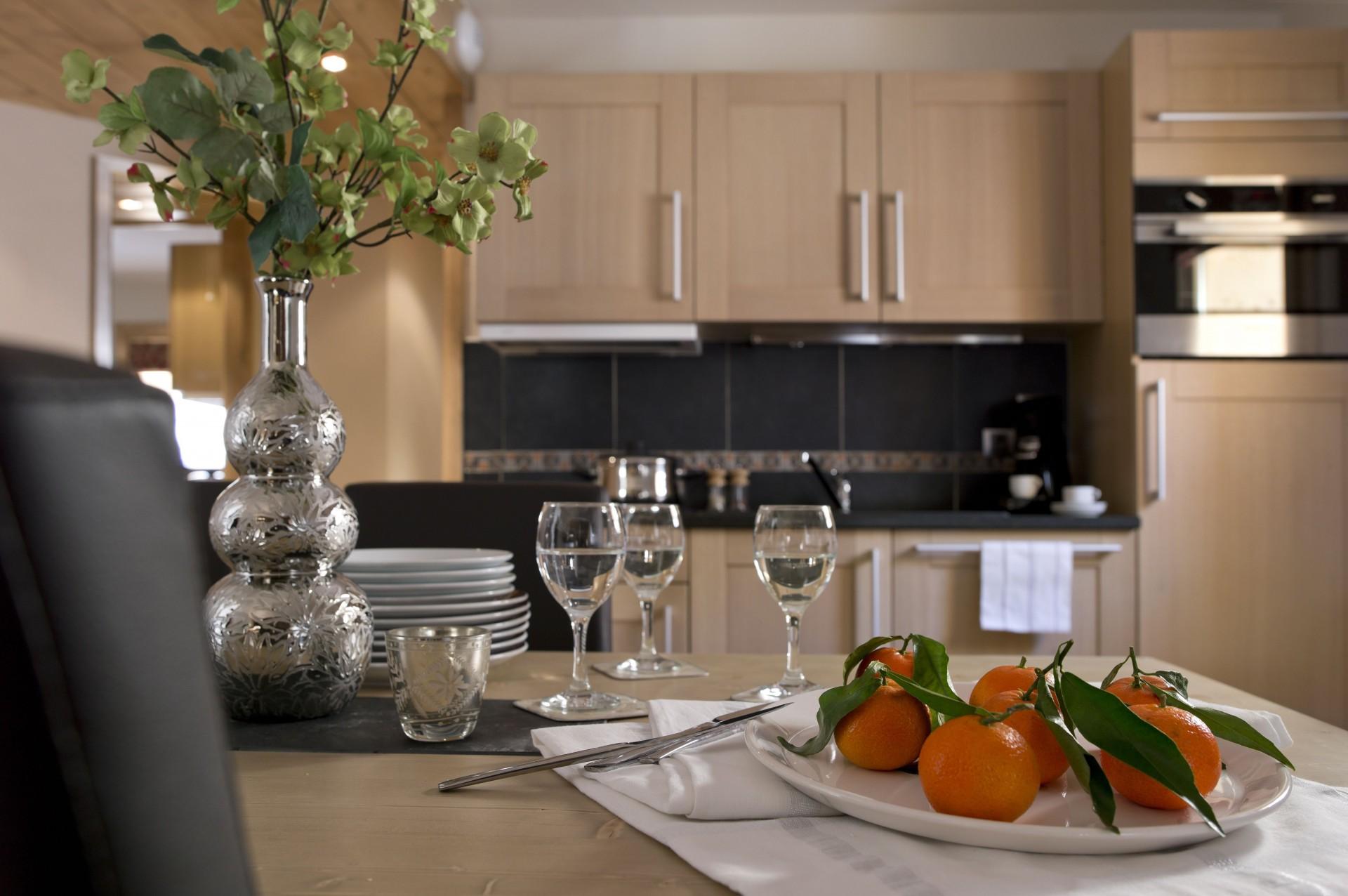 Peisey Vallandry  Location Appartement Luxe Painite Cuisine