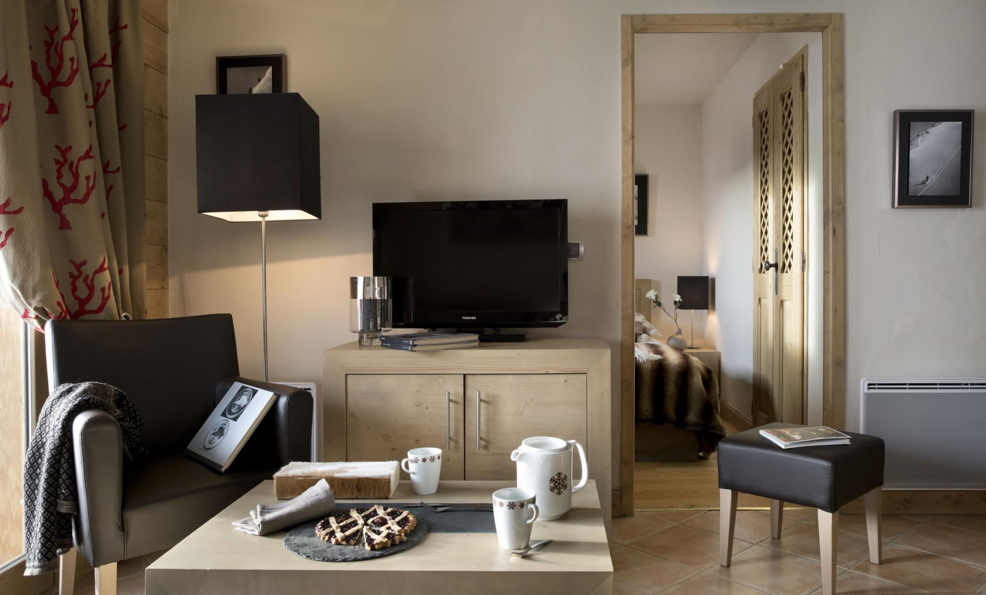 Peisey Vallandry  Location Appartement Luxe Painite Salon